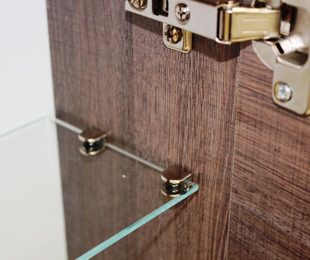 6-dijelni set namještaja za kupaonicu Ibiza Double Dark Tobacco