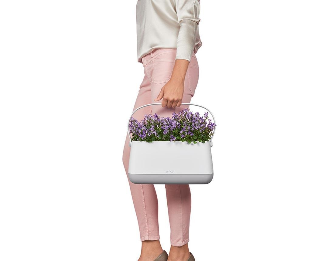 Jardiniera cu sistem de autoirigare cu fitil Yula Grey