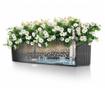 Set 2 jardiniere cu sisteme autoirigare si suport Balconera Two Soft White
