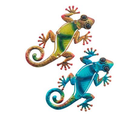 Set 2 decoratiuni de perete Dabria Lizard