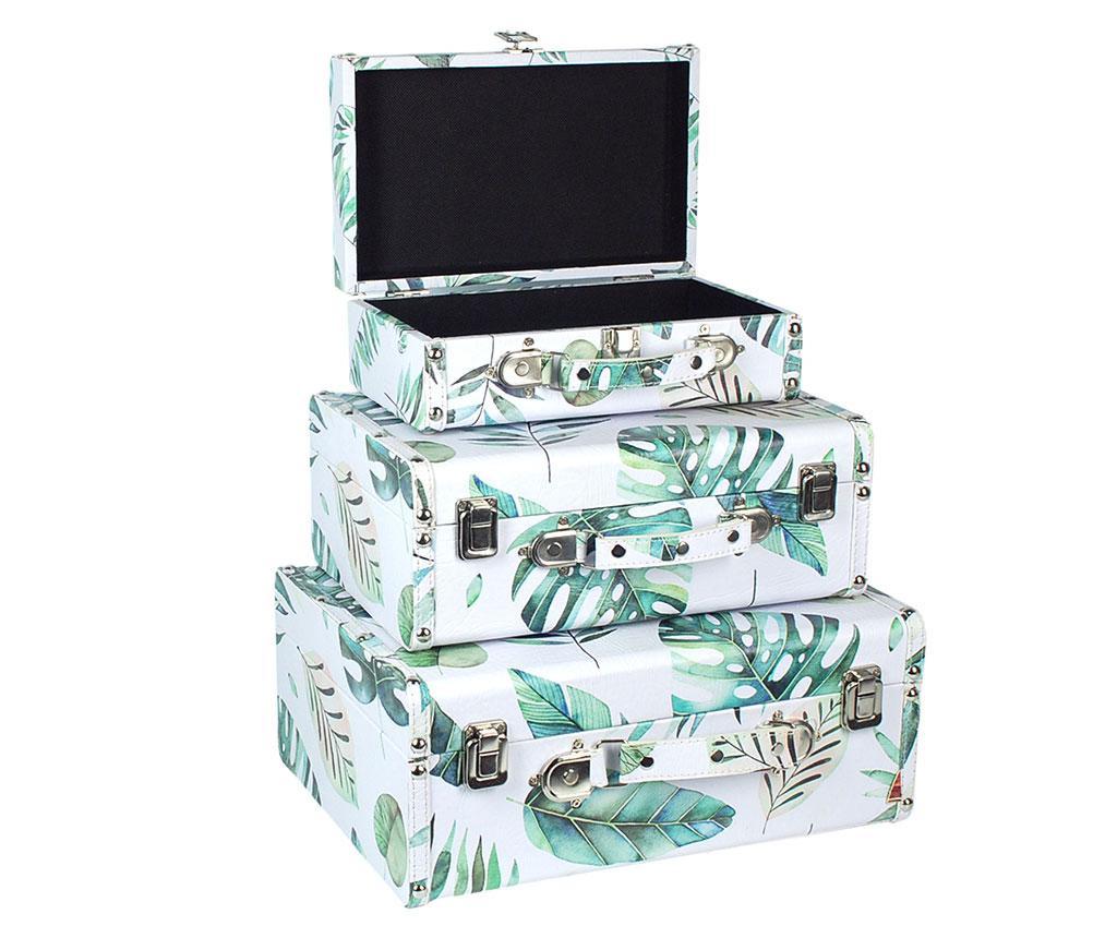 Set 3 valize decorative Tropical Leaf