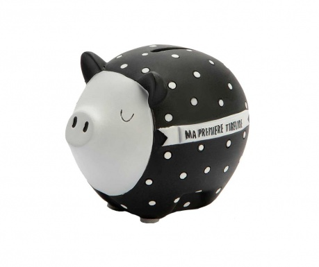 Pig Black White Persely