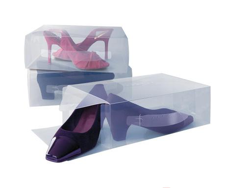 Sada 3 úložných krabic na boty Anoop