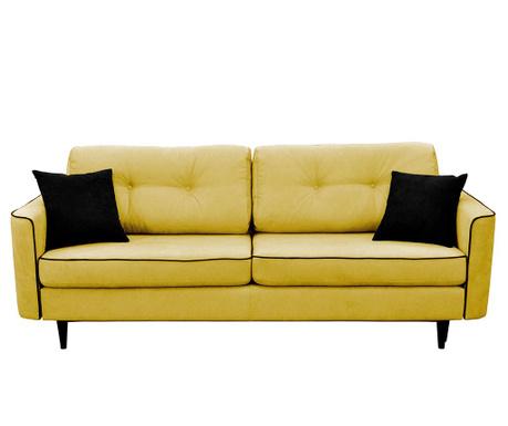 Kauč trosjed na razvlačenje Magnolia Mustard