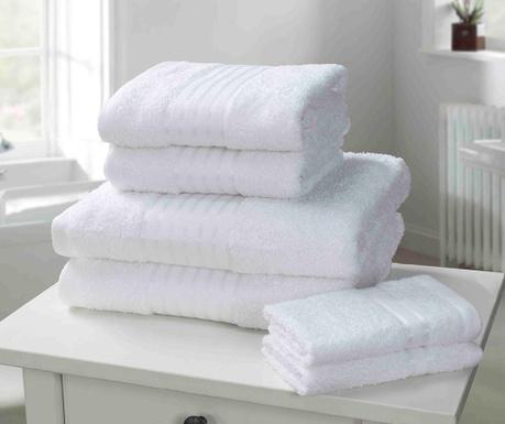 Set 6 kupaonskih ručnika Windsor White