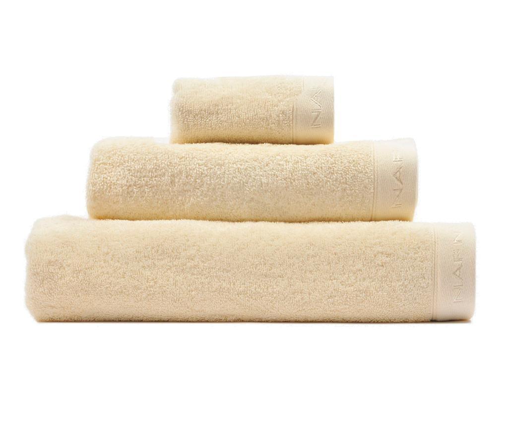 Set 3 prosoape de baie Casual Cream