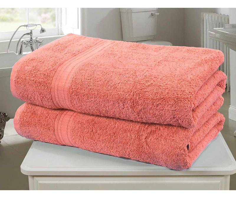 Set 2 kupaonska ručnika Royal Kensington Coral 90x140 cm