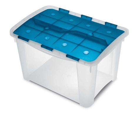 Кутия с капак за съхранение Home Blue