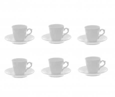 Set 6 skodelic in 6 krožničkov Marta