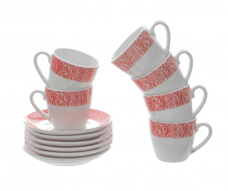 Сервиз 6 чашки и 6 чинийки Geko