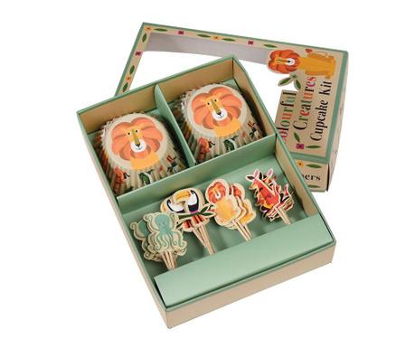 48-delni set za mafine Colourful Creatures Cupcake