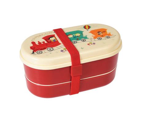 Set kutija za užinu i  2-dijelni pribor za jelo Party Train
