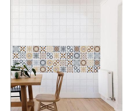 Zestaw 24 naklejek Azulejo
