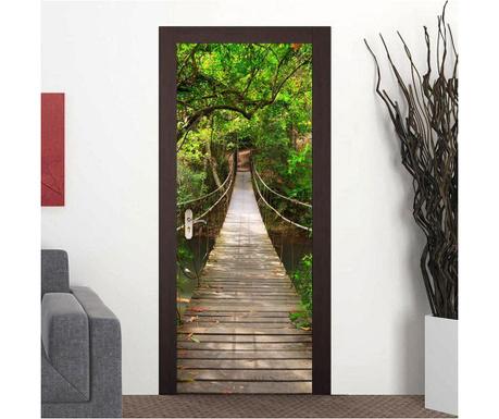 Naklejka na drzwi Jungle Bridge