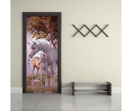Naklejka na drzwi Unicorn
