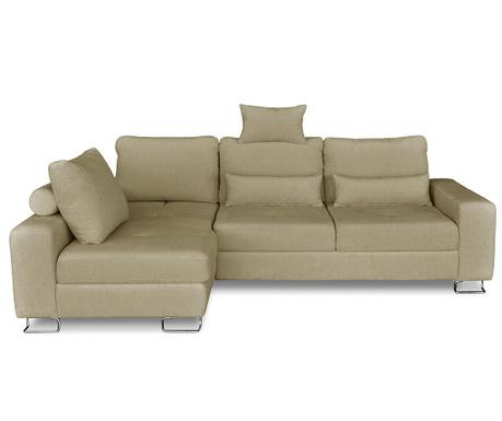 Разтегателен ляв ъглов диван Alpha Beige