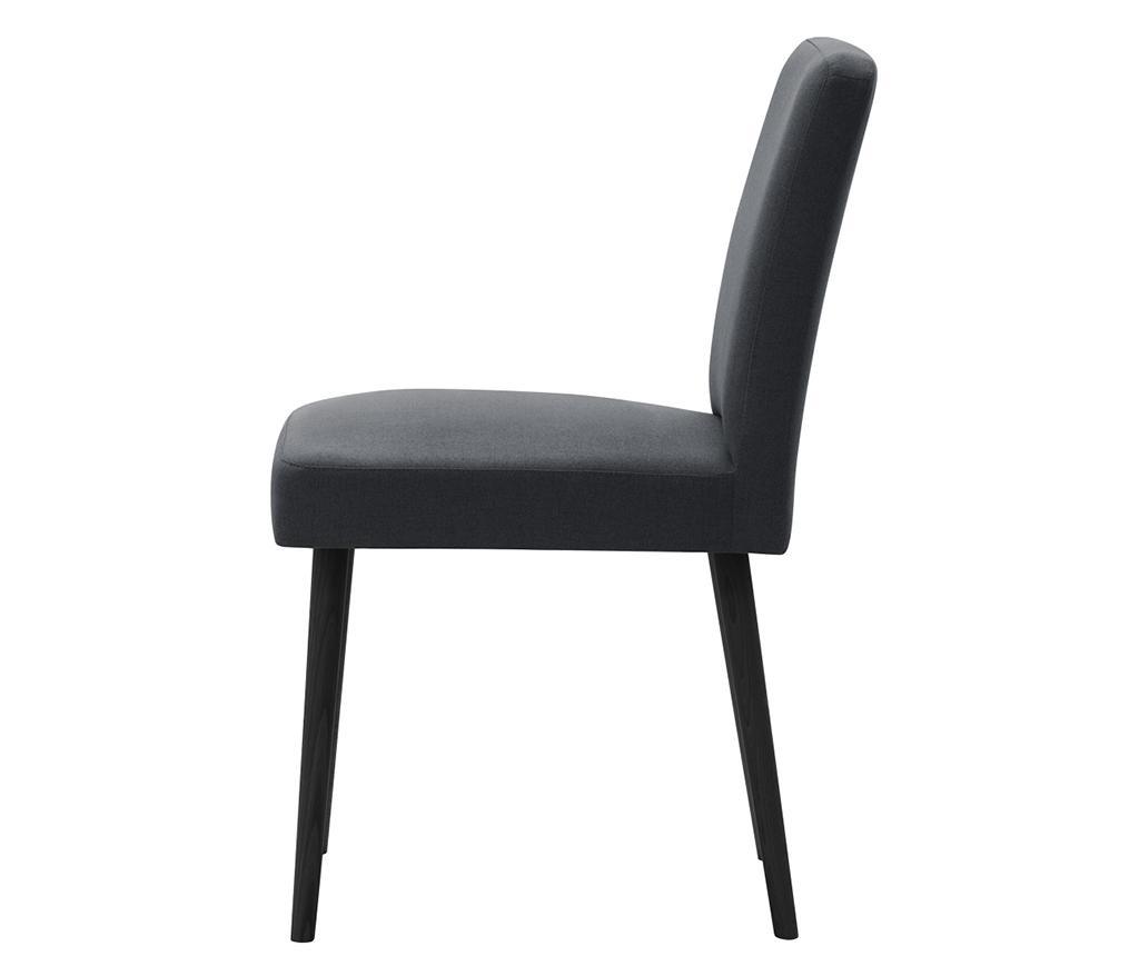 Set 2 scaune Fragrance Anthracite Noir
