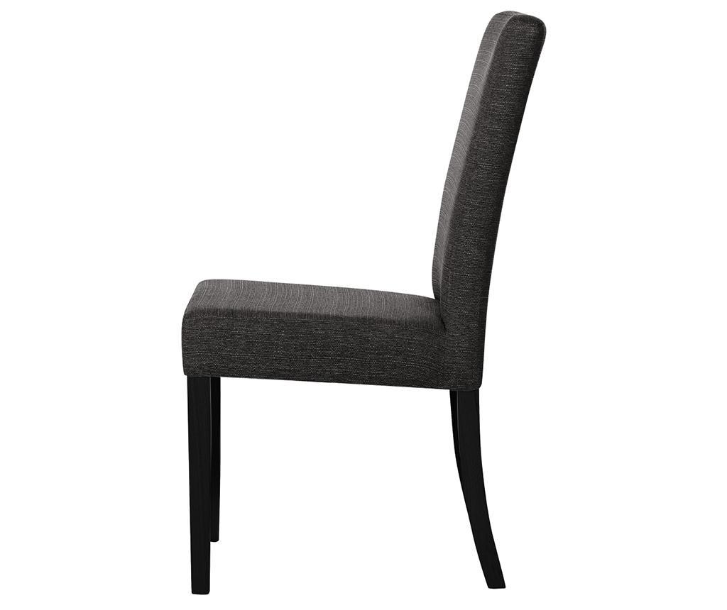 Set 4 stolov Tonka Black Anthracite