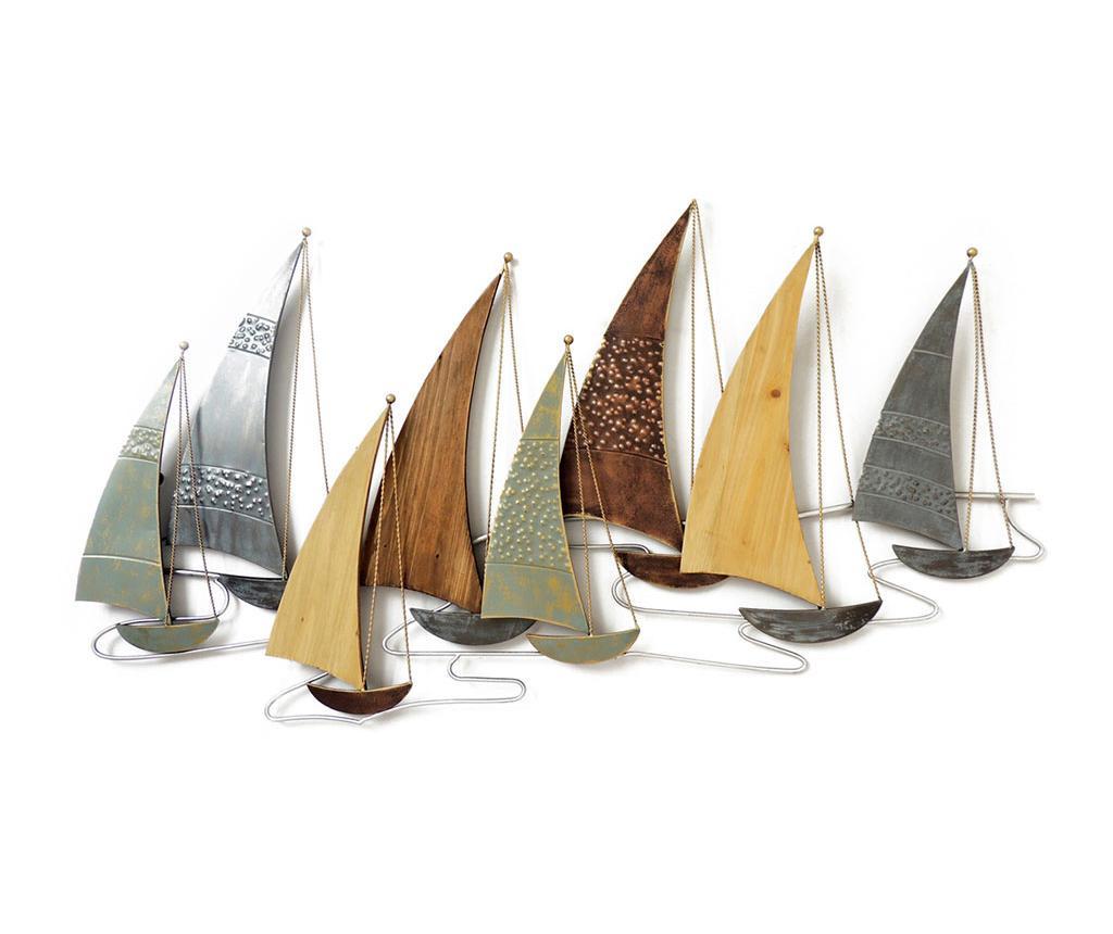 Zidni ukras Beaux Arts Row of Boats