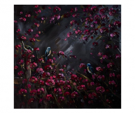 Slika Gallery Birds and Flowers 100x100 cm