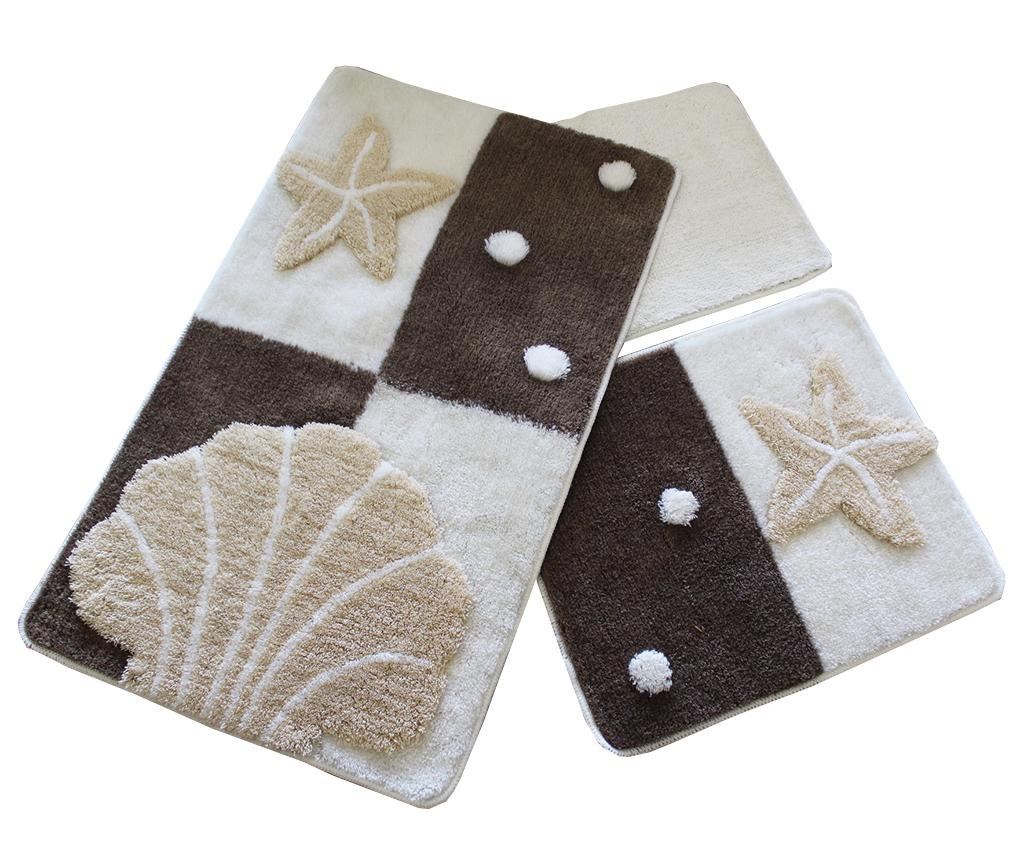Deniz Yildizi Brown 3 db Fürdőszobai szőnyeg