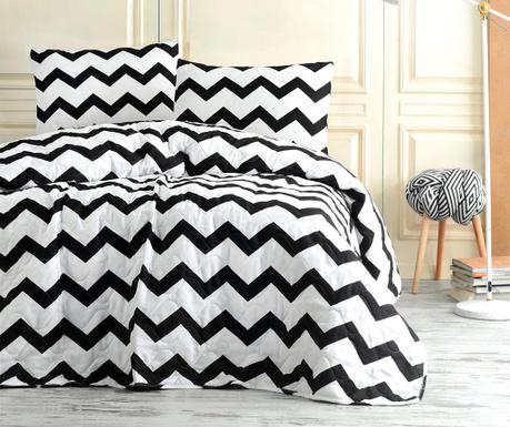 Set s prešitim posteljnim pregrinjalom Double Small Zigzag