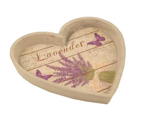 Lavender Heart Szervírozó tálca