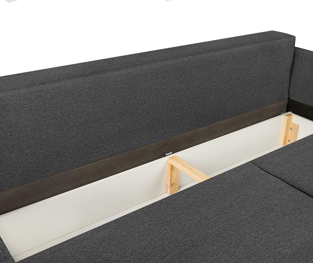 Canapea extensibila 3 locuri Giovanni Grey