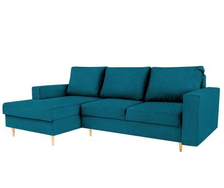 Разтегателен ляв ъглов диван Iris Turquoise