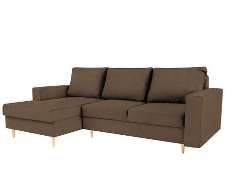 Разтегателен ляв ъглов диван Iris Brown