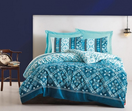 Спално бельо Single Ranforce Dante Petrol Blue