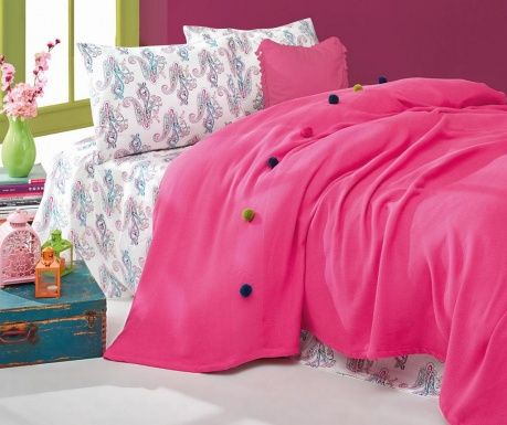 Posteljnina King Ranforce Pique Fancy Fuchsia
