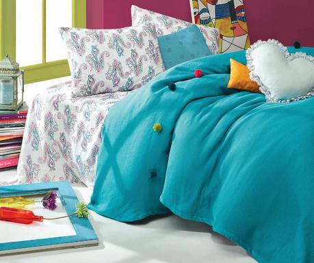 Спално бельо King Ranforce Pique Fancy Turquoise