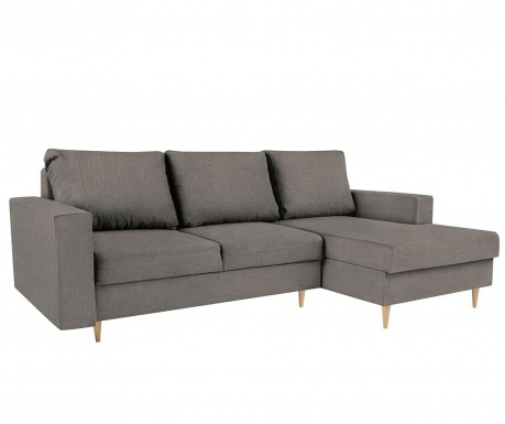 Разтегателен десен ъглов диван Iris Dark Grey