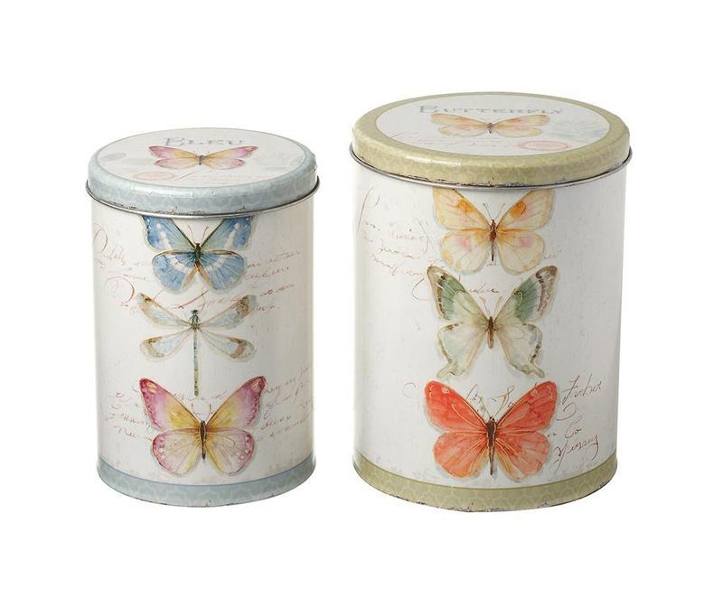 Set 2 kutije s poklopcem Butterfly