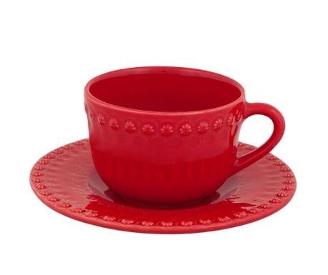 Комплект чашка и чинийка Fantasia Tea Red