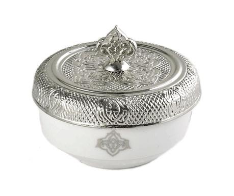 Ζαχαριέρα με καπάκι Romance Round Silver