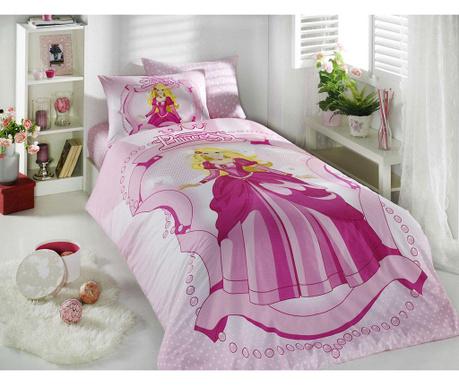 Lenjerie de pat Single Ranforce Princess Pink