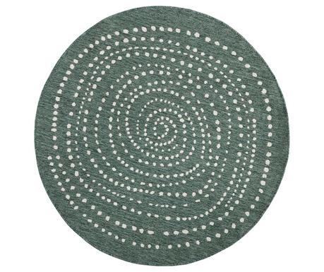 Venkovní koberec Reversible Twin Round Forest Green