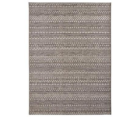 Venkovní koberec Lotus Knit Anthracite Brown