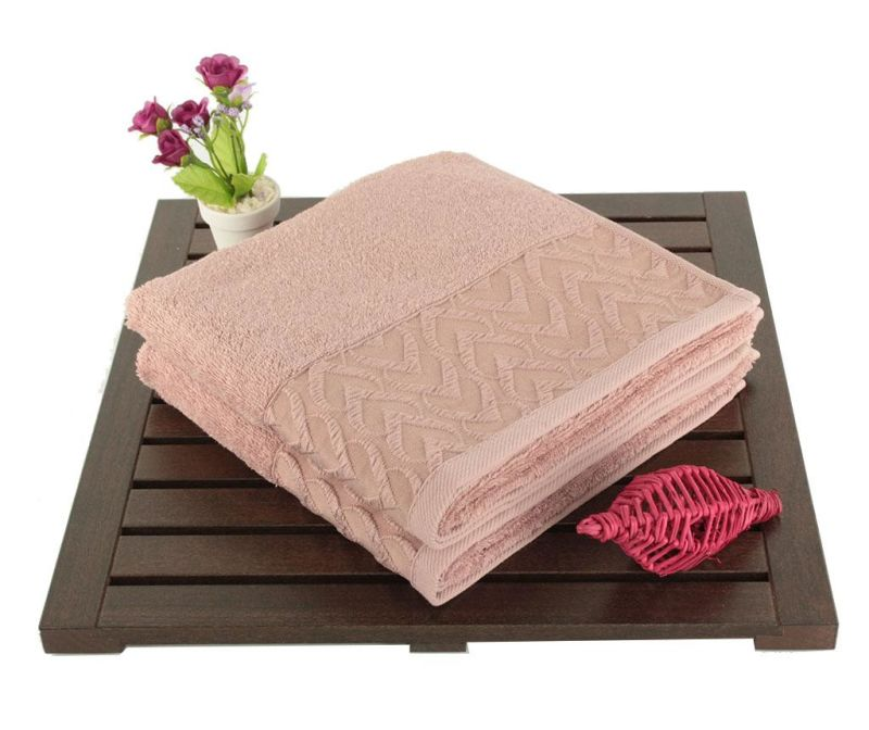Set 2 prosoape de baie Persephone Dusty Rose 50x90 cm
