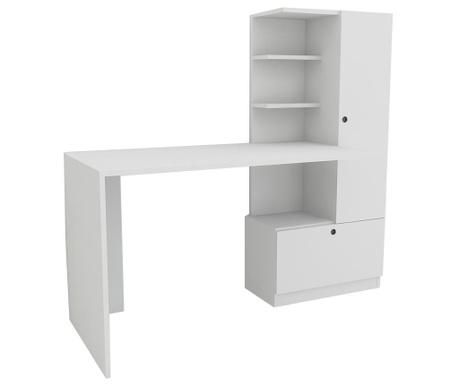 Merinos White Íróasztal könyvespolccal