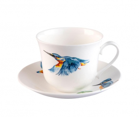 Set - skodelica in krožniček Kingfisher