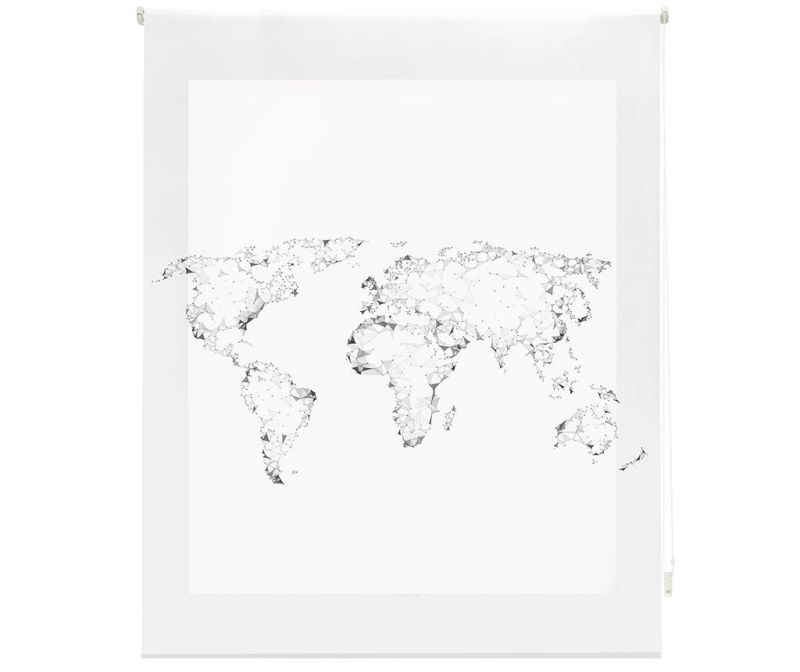 Rolo zastor World Map 140x180 cm