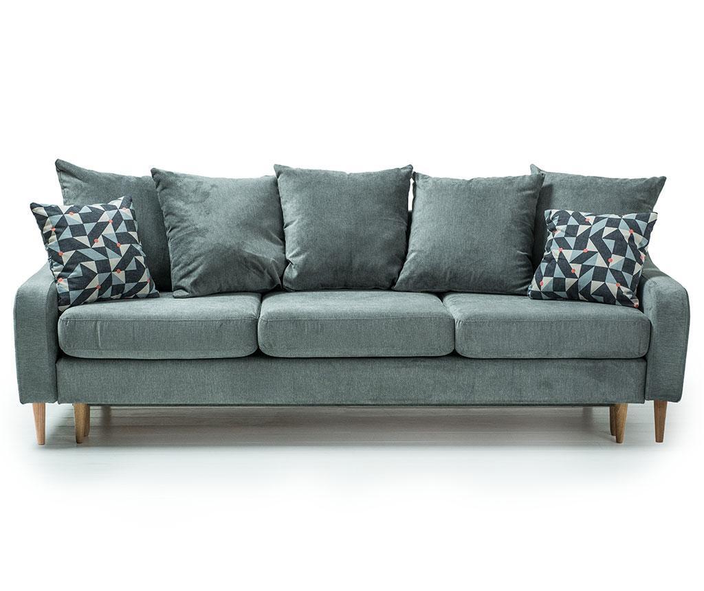 Kauč trosjed na razvlačenje Benito Orinoco Green