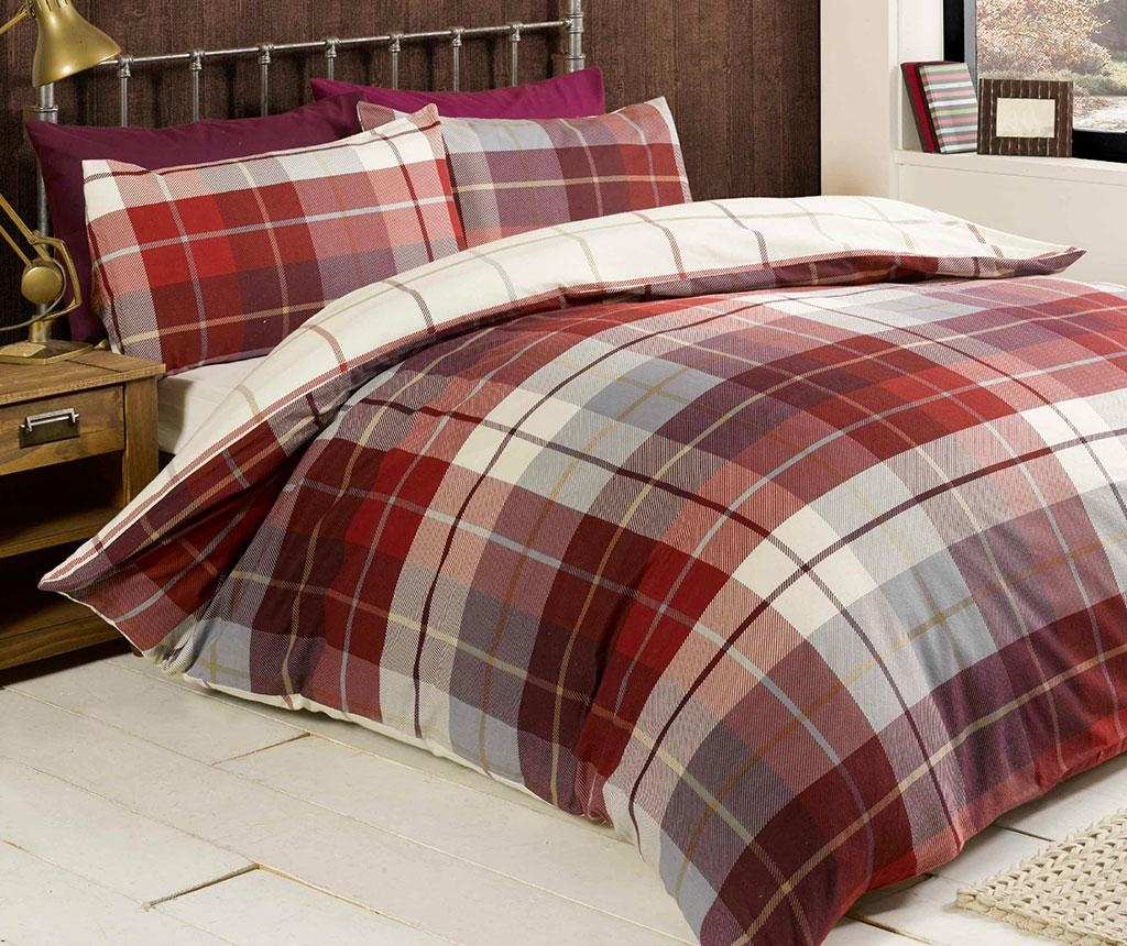 Set de pat Single Lomond Red