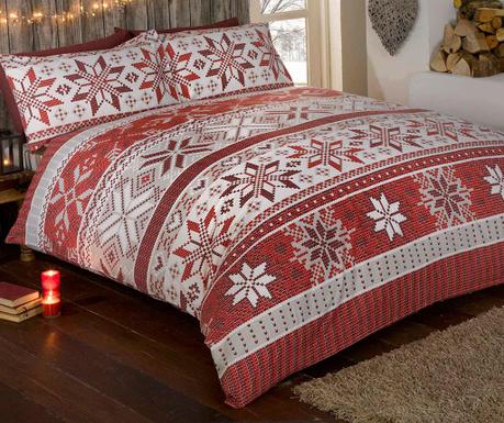 set de pat single stockholm red. Black Bedroom Furniture Sets. Home Design Ideas
