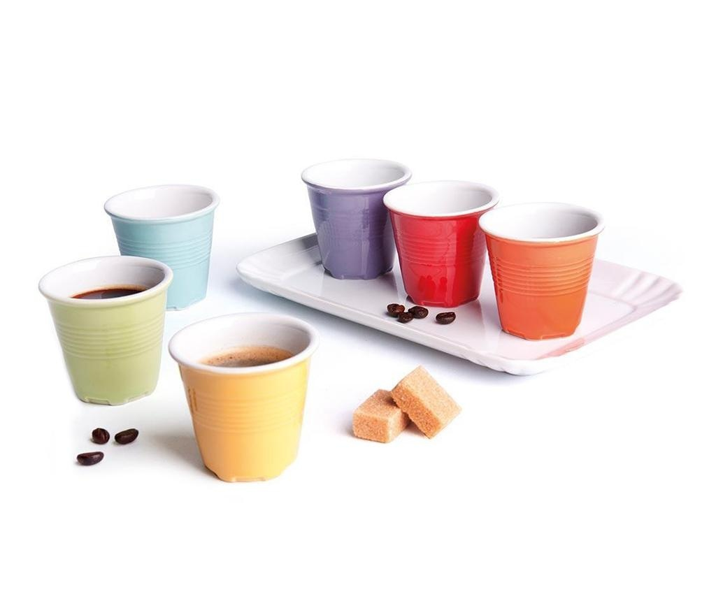 Zestaw 6 filiżanek do kawy i taca Cup Shot