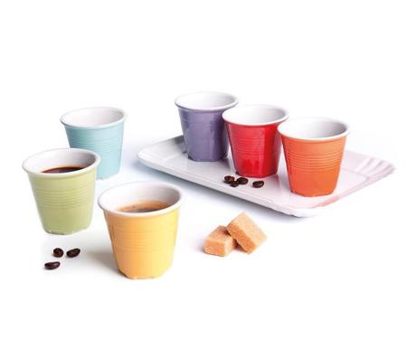 Sada 6 pohárov na kávu s táckou Cup Shot