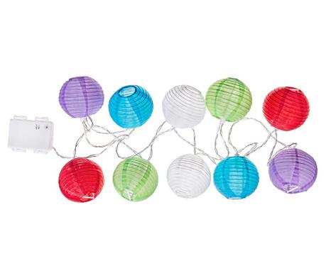 Exteriérová svetelná girlanda Colorful Spheres